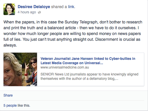 College of UM director & Benhayon's business partner, Delaloye, on the cult's version of *facts*