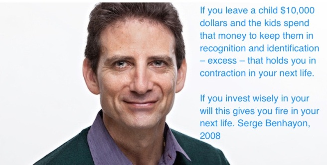 Investing in your will with cult leader Serge Benhayon